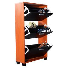 COSTWAY Wooden Shoe Organizer 3 Drawers Cabinet Storage Rack Shelf New