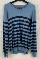Tommy Hilfiger Men's Signature V-Neck Seattle Stripe Sweater