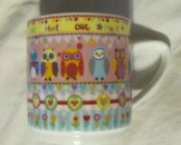OWLS- Ceramic Coffee Mug Cup Owls  Creative Tops LTD-  EUC