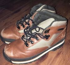 Timberland Field Boots Sz 2.5 Brown Lace Up Childrens Boys 2973R