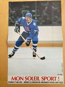 QUEBEC NORDIQUES Pat Price poster program insert 1984-1985 NHL hockey