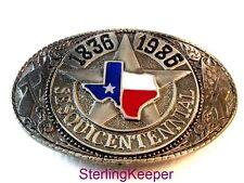 Vintage Texas Sesquicentennial Enameled Belt Buckle