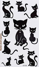 Tatouage  temporaire Chat 10 stickers body art