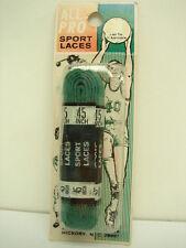 """Vintage All Pro 45"""" Kelly Green Sport Laces Low Cut Shoelaces Shoe Laces"""