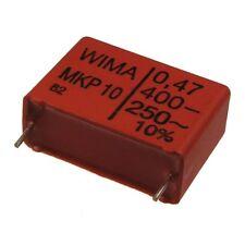 2 WIMA Impulsfester Polypropylen Kondensator MKP10 400V 0,47uF 22,5mm 089722