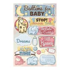 KAREN FOSTER DESIGN BEDTIME FOR BABY CRIB NURSERY CARDSTOCK SCRAPBOOK STICKERS