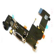 IPHONE 5s BLACK USB CHARGING UNIT DOCK & HEADPHONE MIC FLEX CABLE -BLACK PART