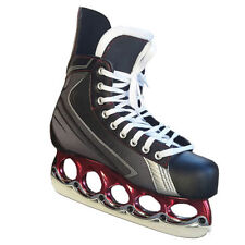 Patins de patinage sur glace et de hockey gris