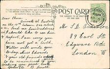 Mr Anderson., 89 Earl street, London 1905 Postcard  'B Smith'   QS.718