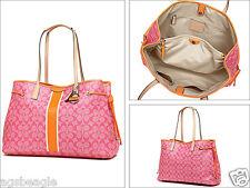 Coach Bag F30521 SIgnature Drawstring Carryall Handbag Pink Agsbeagle COD