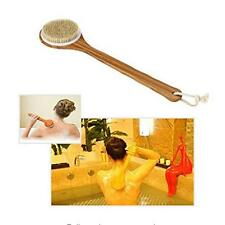 Bath Shower Soft Body Bristle Scrubber Long Handle Back Skin Massage Brush WA