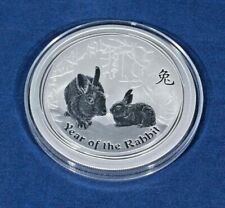 Australian Lunar Year of The Rabbit Silver Bullion Coin. 0.999ag 2 Oz  2011