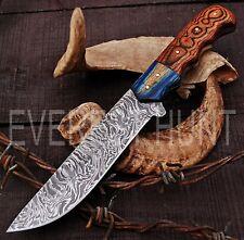 EVEREST HUNT CUSTOM HANDMADE DAMASCUS STEEL HUNTING CAMP SKINNER KNIFE B4-1625