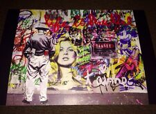 MR BRAINWASH ART SHOW EVENT CARD Picasso Kate Moss Warhol Banky Monkey RARE!