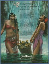 SAN MIGUEL BEER - Classic beer of the Pacific - 1981 Vintage Print Ad
