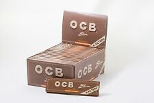 Full Box (32) OCB VIRGIN Unbleached Rolling Paper King Size With Filter Tips