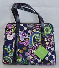NWT Vera Bradley Frame Satchel Purse FLORAL NIGHTINGALE Handbag #11986-116