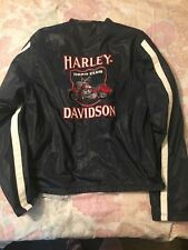 "Genuine Harley Davidson Motorcycle Embroidered Reversible Jacket ""Road Club"""