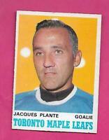 1970-71 OPC # 222 LEAFS JACQUES PLANTE GOALIE EX-MT CARD (INV# D1630)