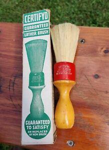 Almost NOS Vintage Shave Brush Certifyd IOB