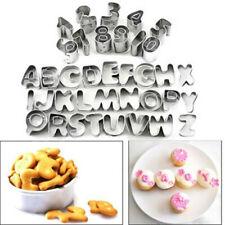 37pc Set Alphabet Letter Number Fondant Icing Cutter Cake Decorating Mould Metal