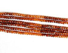 "13"" HESSONITE GARNET SHADED BEADS FACETED MICRO CUT RONDELLE 2 MM GEMSTONE #4284"