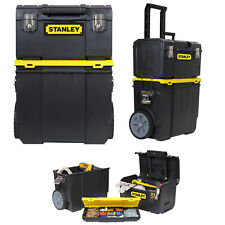 Stanley 3-in-1 Detachable Rolling Mobile Tool Box Lockable Storage Organizer
