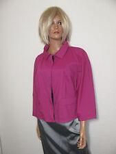 DKNY USA Designer Sommer Jacke Stretch Jacket Blazer Fuchsia Gr.44 US-14 Neu