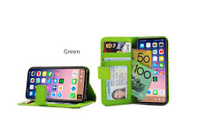 Green Premium Credit Wallet Leather Case Cover For Samsung Galaxy Note 3+Film