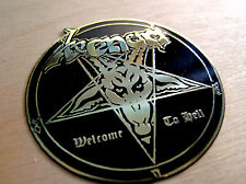 VENOM Wellcome To Hell Engraved Brass Badge Patch Pin, Collector's Grade