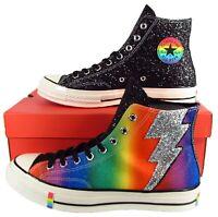 Converse Chuck Taylor All Star 70 Hi Rainbow Pride GLITTER Lightning Bolt LGBTQ+