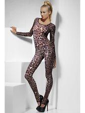 Women's Cheetah Print Brown Bodysuit One Size Fever Brand