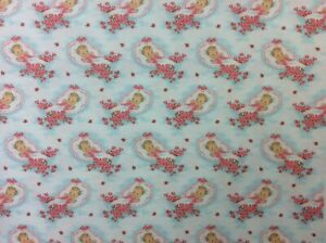 NT96 Retro Infant Newborn Baby Shower Wrapping Paper Style Cotton Quilt Fabric