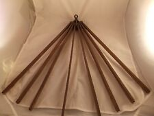 """ANTIQUE """"HANDY"""" WOOD AND CAST IRON CLOTHES DRYING RACK - 8 ARM"""