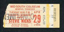 Original 1986 Stevie Nicks concert ticket stub Memphis Tn Rock A Little