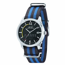 AV-8 Men's Hawker Hurricane AV-4044-02 Black Dial Multi-Colored Nylon Watch
