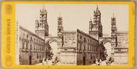 Palermo Italia Foto Giorgio Sommer Stereo PL55L2n Vintage Albumina c1865