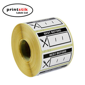 Best Before Food Labels Day Dot Use By Food Hygiene 50mm x 25mm 1000 per roll