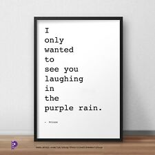 PRINCE Purple Rain Song Lyrics Prince Rogers Nelson Poster Art Print Fan Gift A5