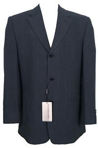 NEW Jhane Barnes Sportcoat Blazer!  42 R  Blue Black Stripe  Heavy Weight  ITALY