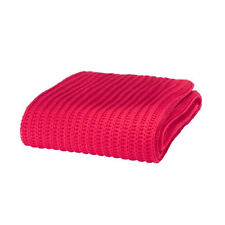 Catherine Lansfield Chunky Knit Red Throw 125x150cm Home Furnishing