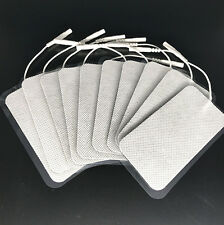 10 Replacement Electrode Pads 5x10 cm Large for Massagers/Tens Units White Cloth