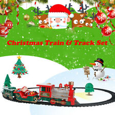 Christmas Electric LED Musical Train & Track Set Toys Kids Party Gift Home Decor