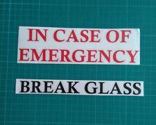 IN CASE OF EMERGENCY BREAK GLASS VINYL STICKER IKEA RIBBA MAKE YOUR OWN FRAME