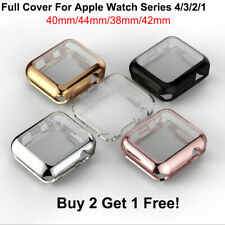 For Apple Watch 4 3 2 1 TPU Case Cover Screen Protector iWatch (38/42mm 40/44mm)
