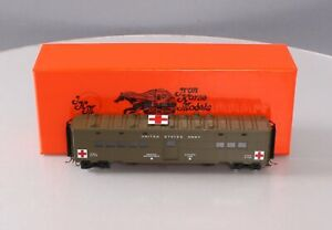 Precision Scale 17676-2 BRASS HO Pullman U.S. Army Medical Troop Kitchen Car LN