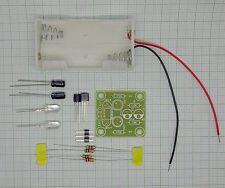 LED Wechselblinker Modul mit Batteriehalter (2 Weiss Leds, 3-9V)  - Bausatz