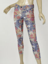 BLANK NYC Blue Pink Floral Printed Lightweight Stretch Skinny Ankle Jeans 27