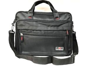 Zipped Document Laptop Messenger Shoulder Bag Briefcase Work Travel Office Strap