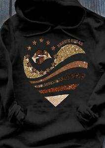 Brown Sugar Heart With Charming Lips Black Women Classic Style Hoodie